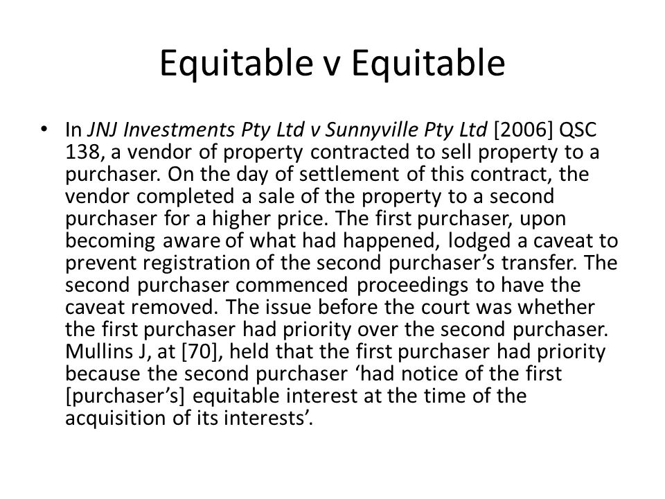 Equitable v Equitable