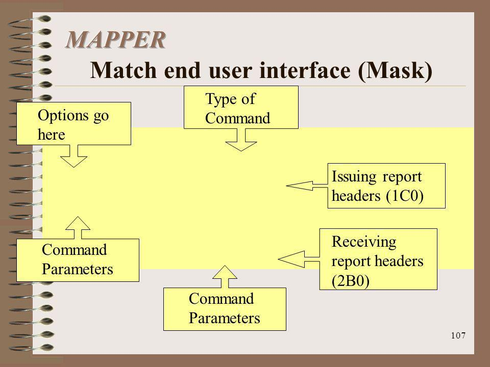 MAPPER Match end user interface (Mask)