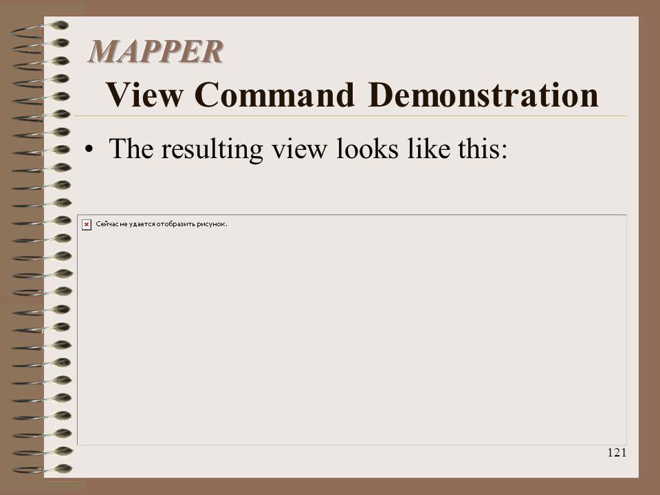 MAPPER View Command Demonstration