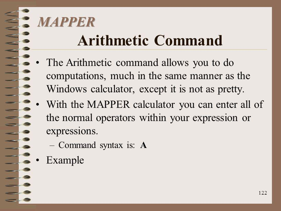 MAPPER Arithmetic Command
