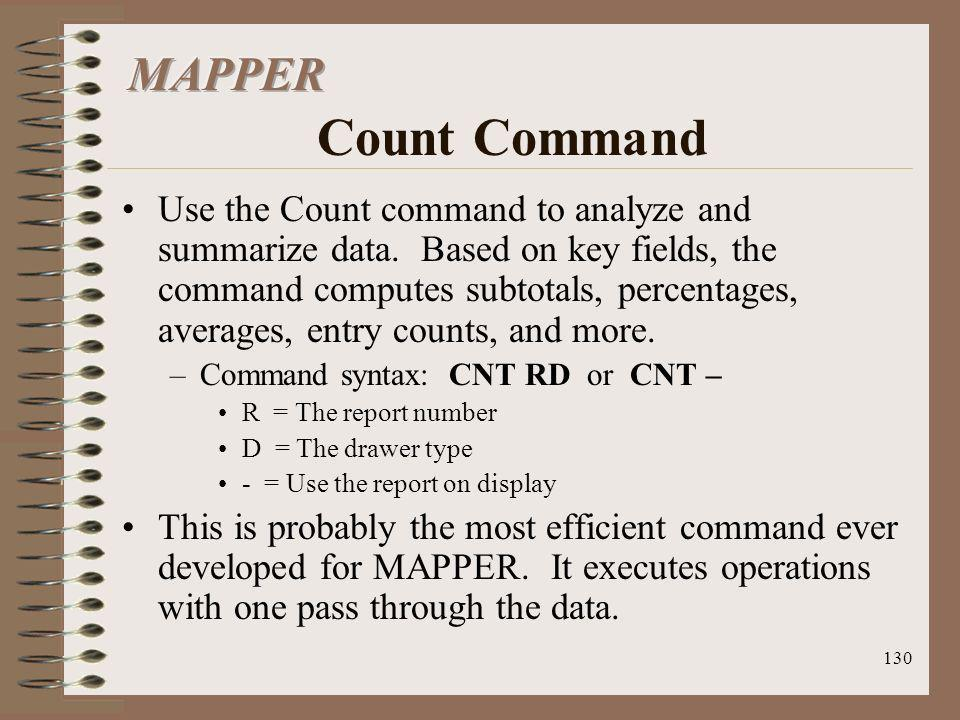 MAPPER Count Command