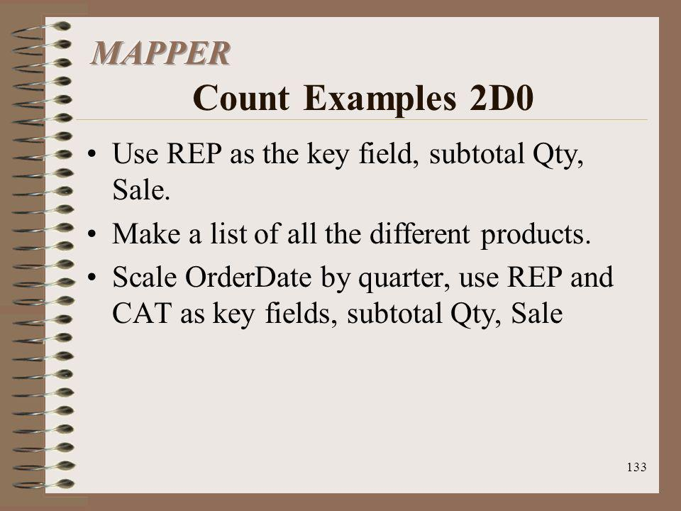 MAPPER Count Examples 2D0