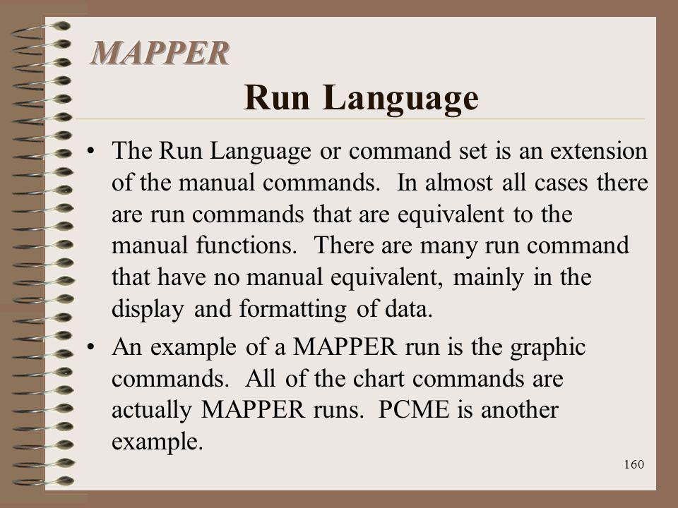 MAPPER Run Language