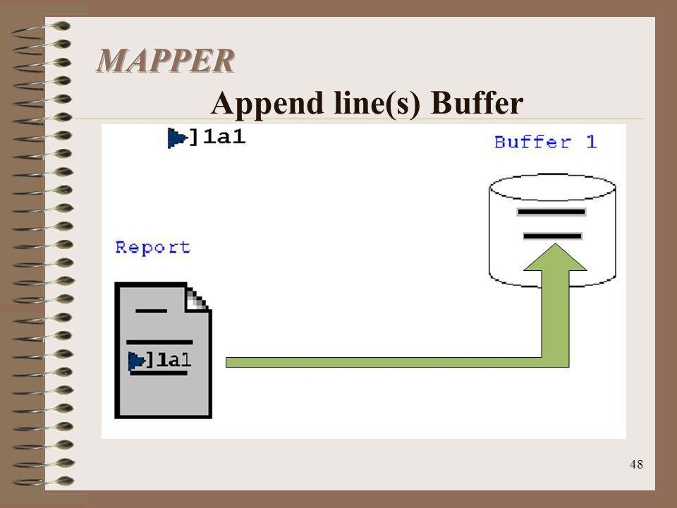 MAPPER Append line(s) Buffer