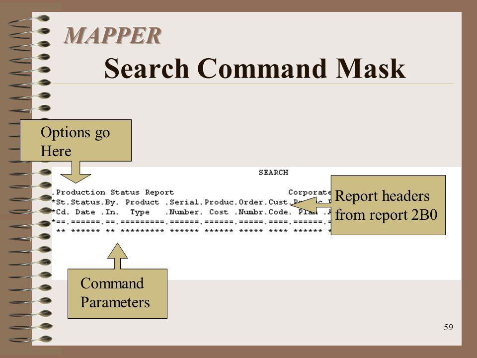 MAPPER Search Command Mask