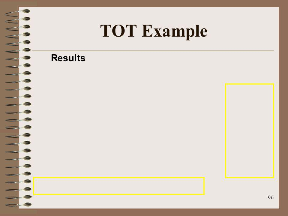 TOT Example Results