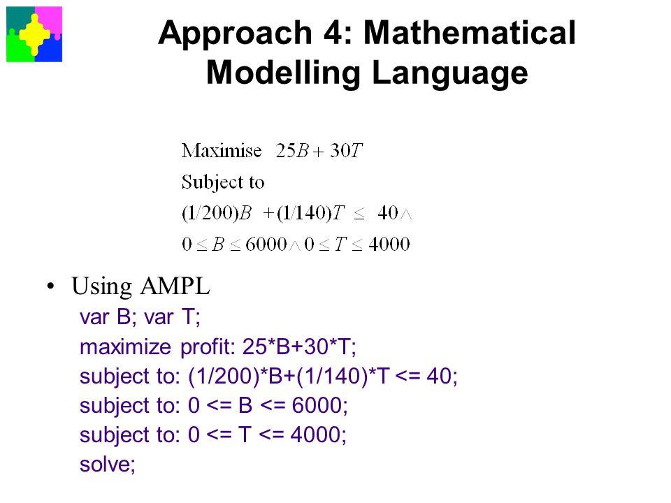 Approach 4: Mathematical Modelling Language