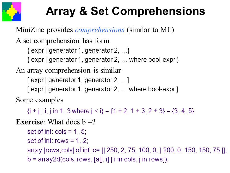 Array & Set Comprehensions