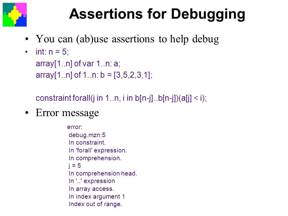 Assertions for Debugging