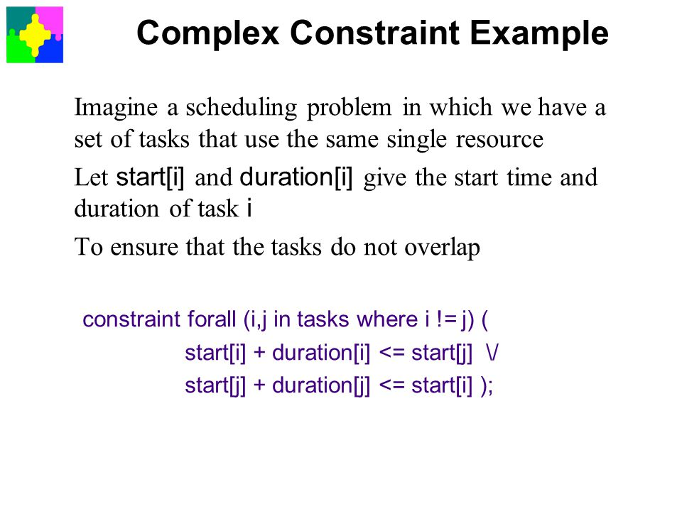 Complex Constraint Example