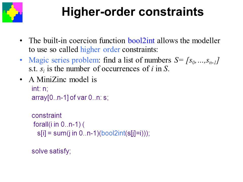 Higher-order constraints