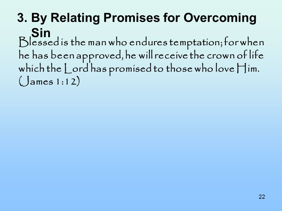 By Relating Promises for Overcoming Sin