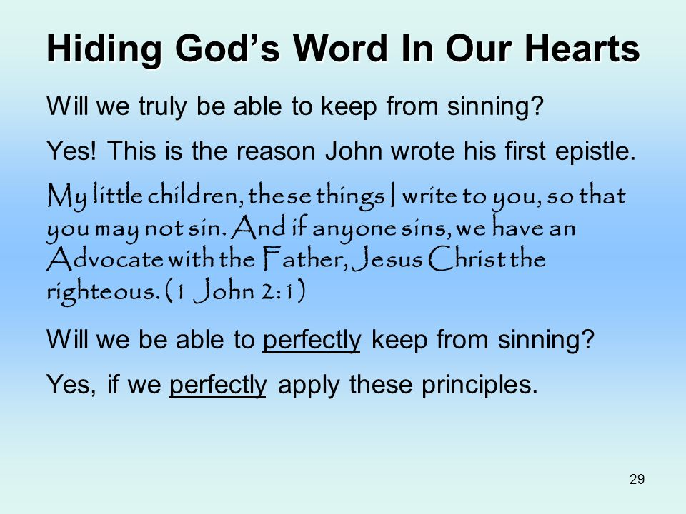 Hiding God's Word In Our Hearts