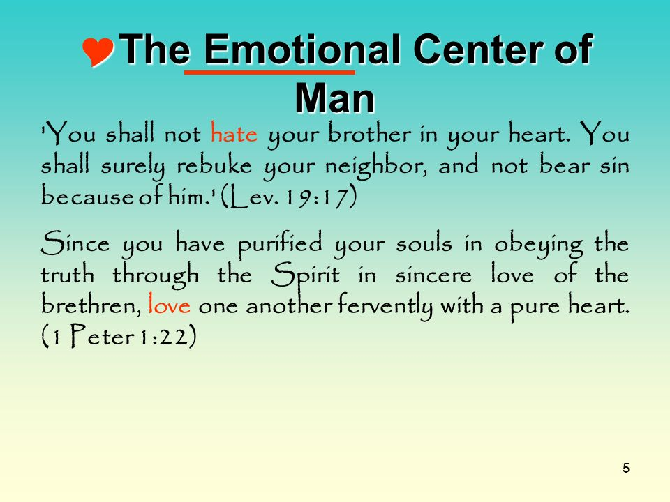 The Emotional Center of Man