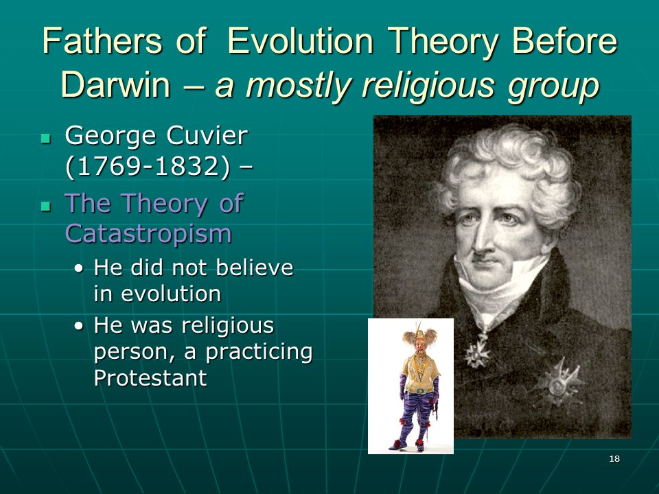 Fathers of Evolution Theory Before Darwin – a mostly religious group