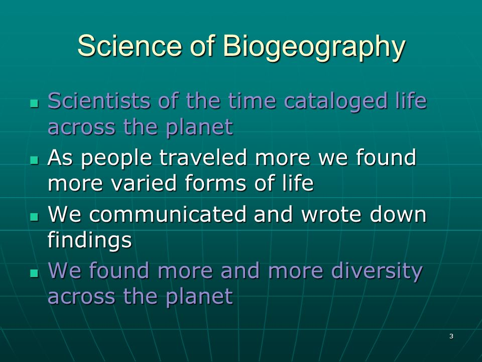 Science of Biogeography