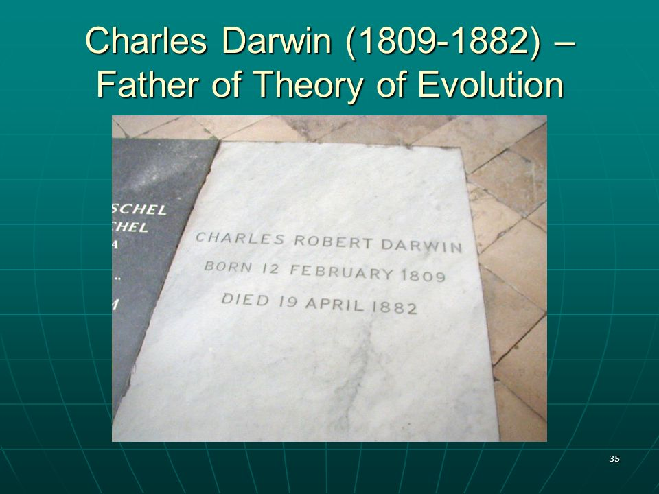 Charles Darwin (1809-1882) – Father of Theory of Evolution