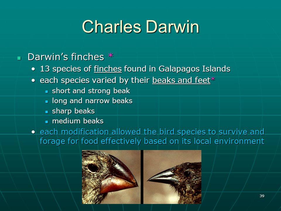 Charles Darwin Darwin's finches *