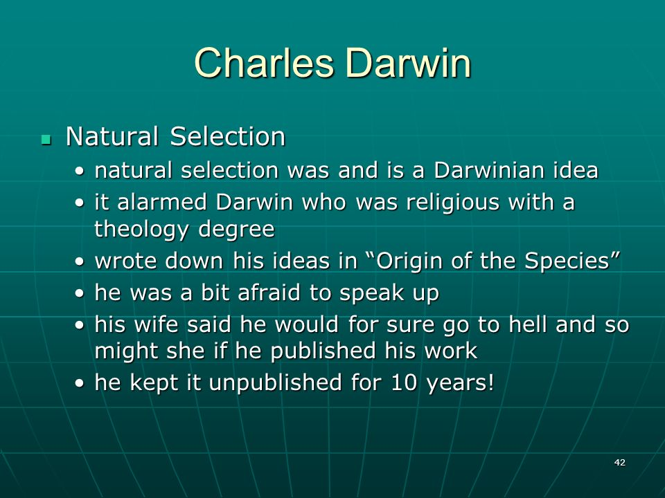 Charles Darwin Natural Selection