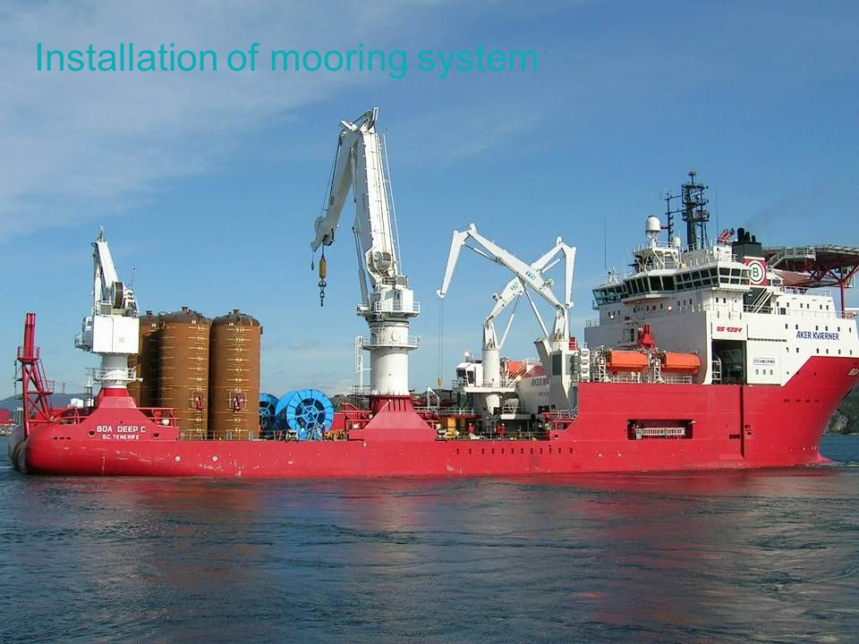 Installation of mooring system