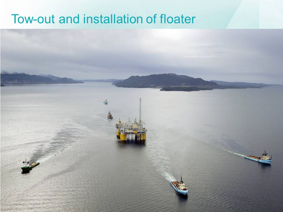 Tow-out and installation of floater