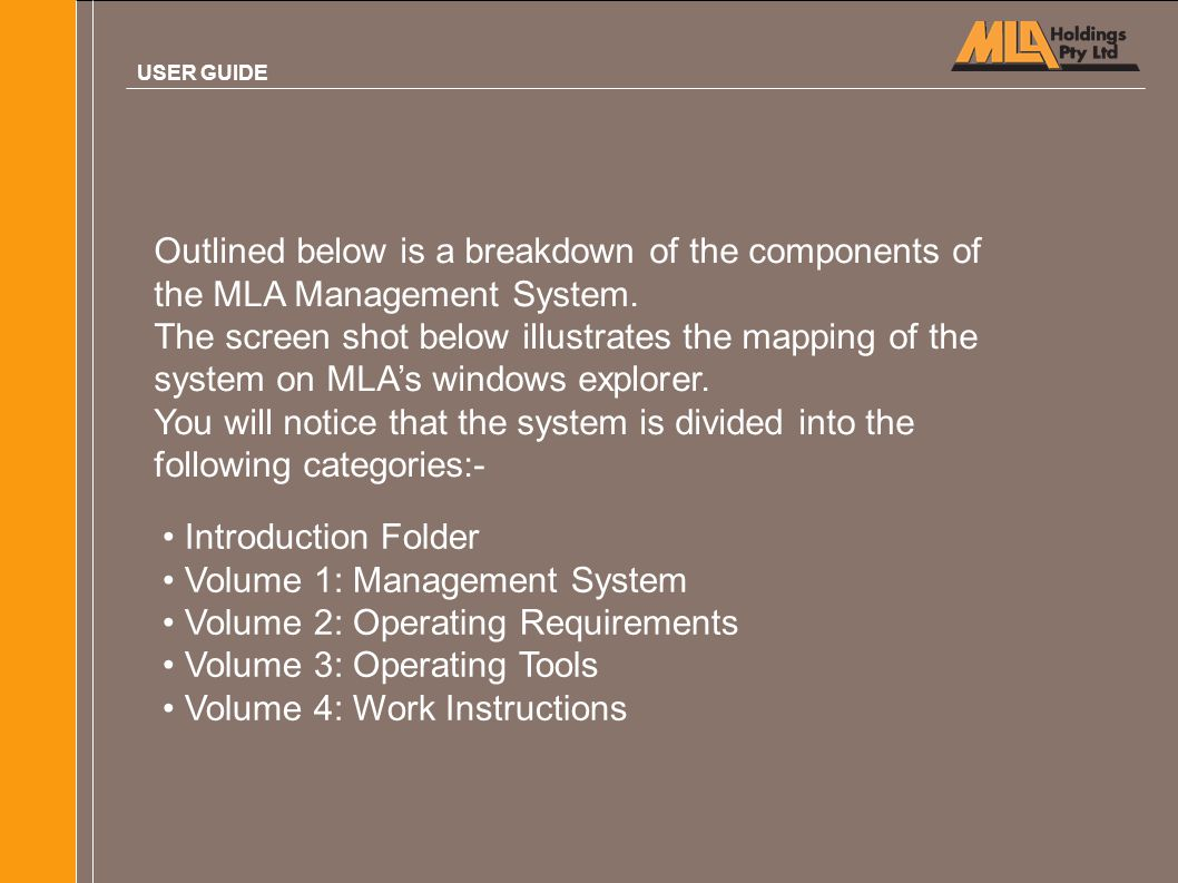 Volume 1: Management System Volume 2: Operating Requirements