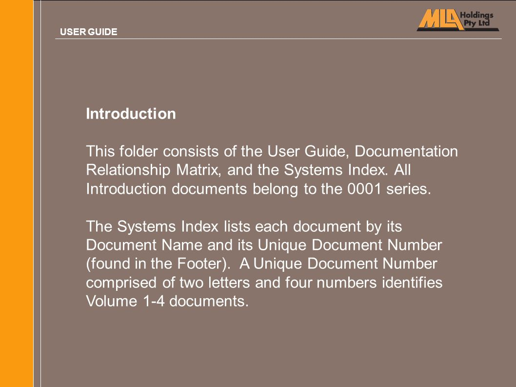 USER GUIDE Introduction.