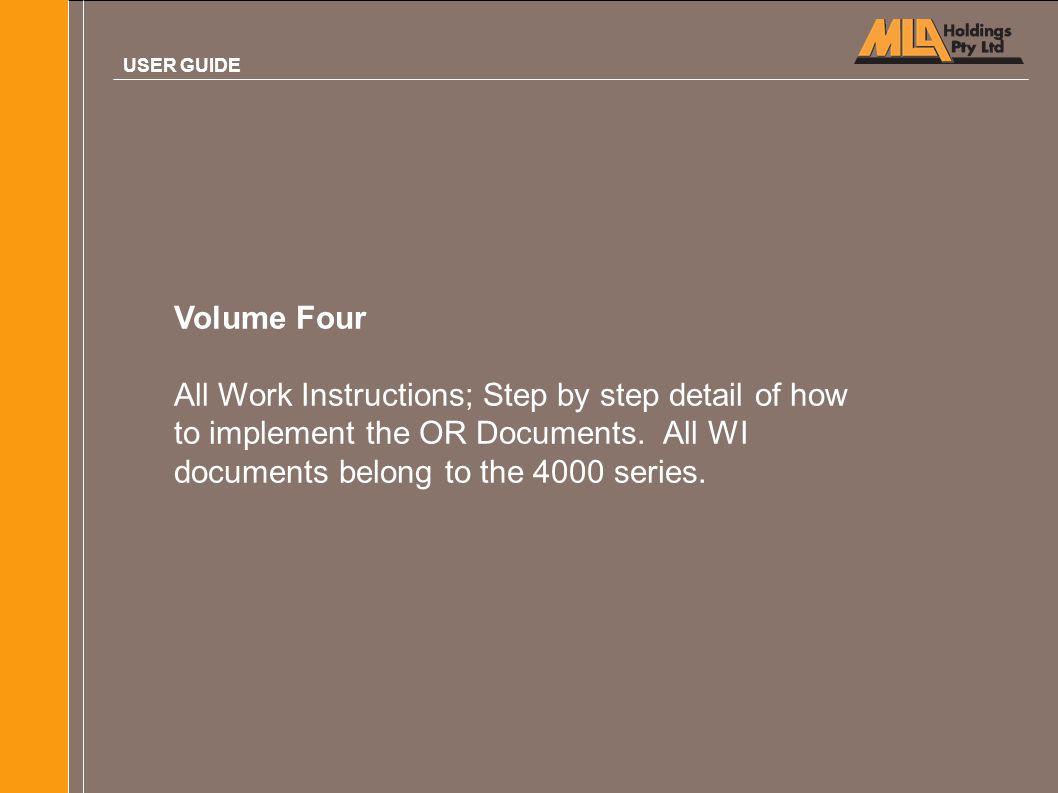 USER GUIDE Volume Four.