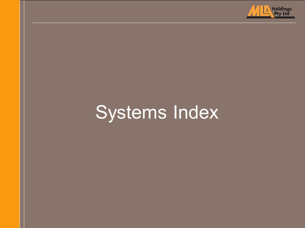 Systems Index