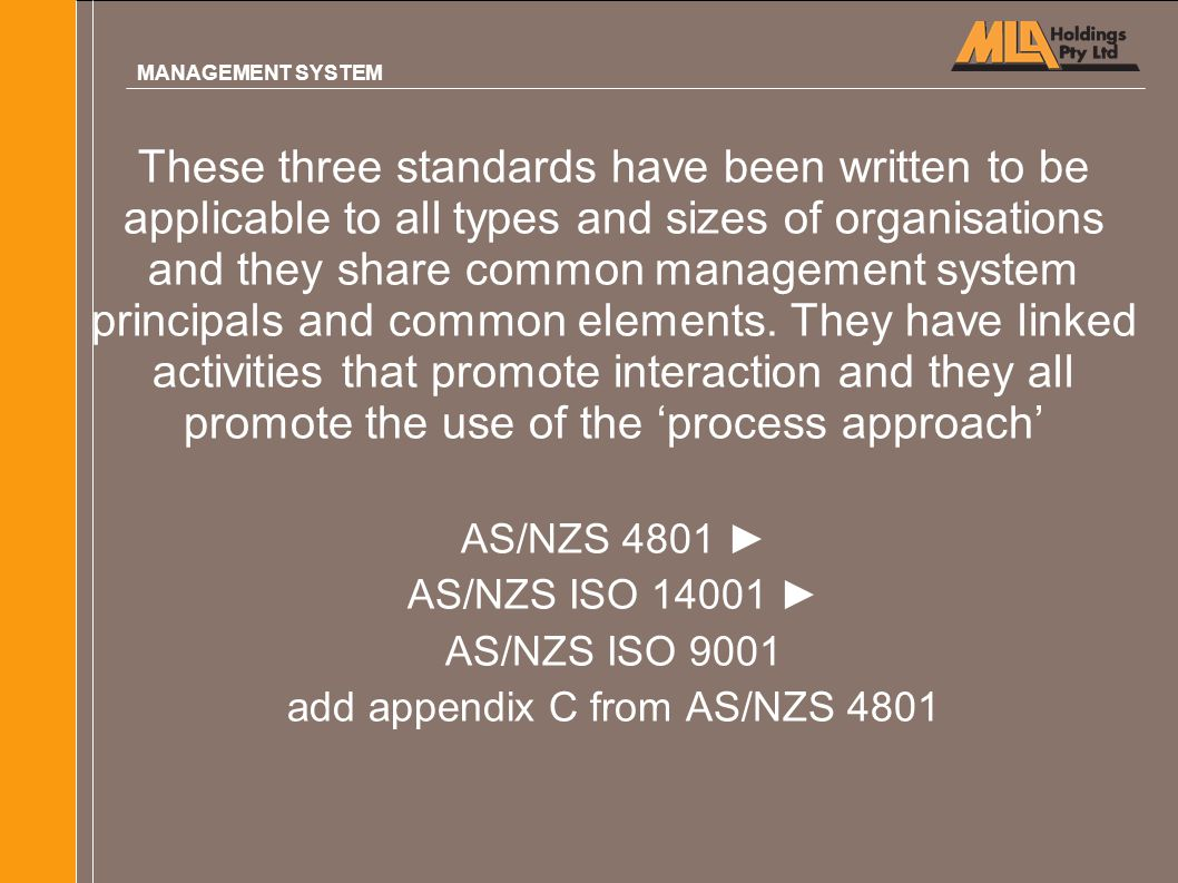 add appendix C from AS/NZS 4801