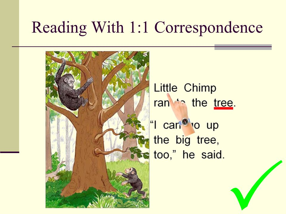 Reading With 1:1 Correspondence