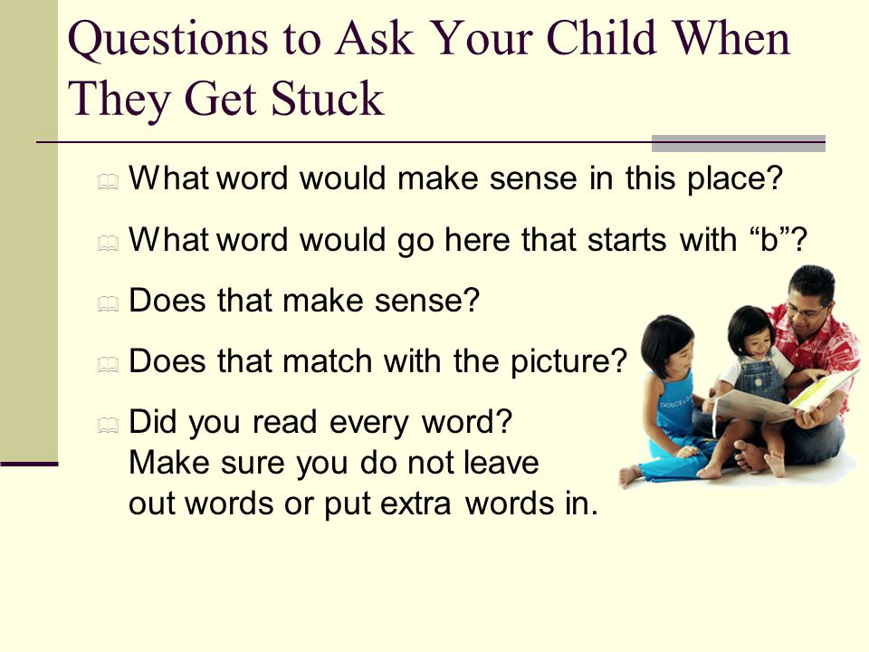 Questions to Ask Your Child When They Get Stuck
