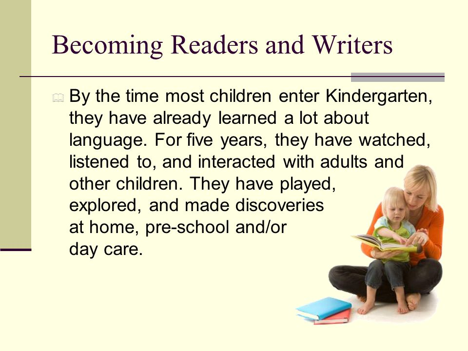 Becoming Readers and Writers