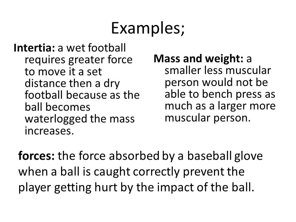 Examples;