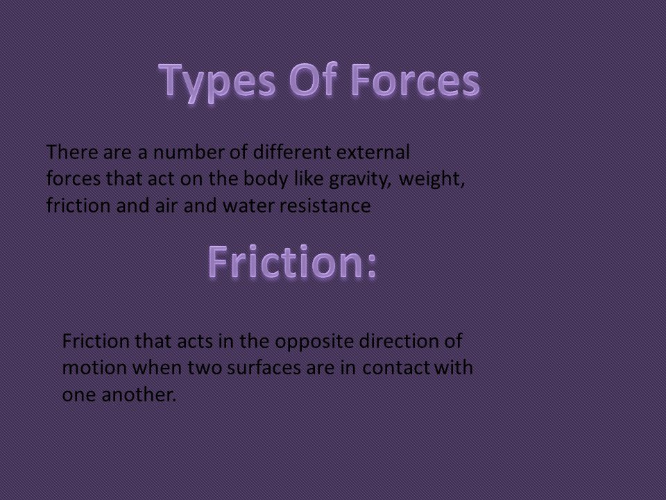 Types Of Forces Friction: