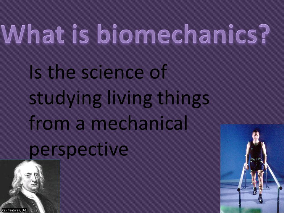 What is biomechanics Is the science of studying living things from a mechanical perspective
