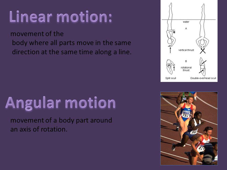 Linear motion: Angular motion