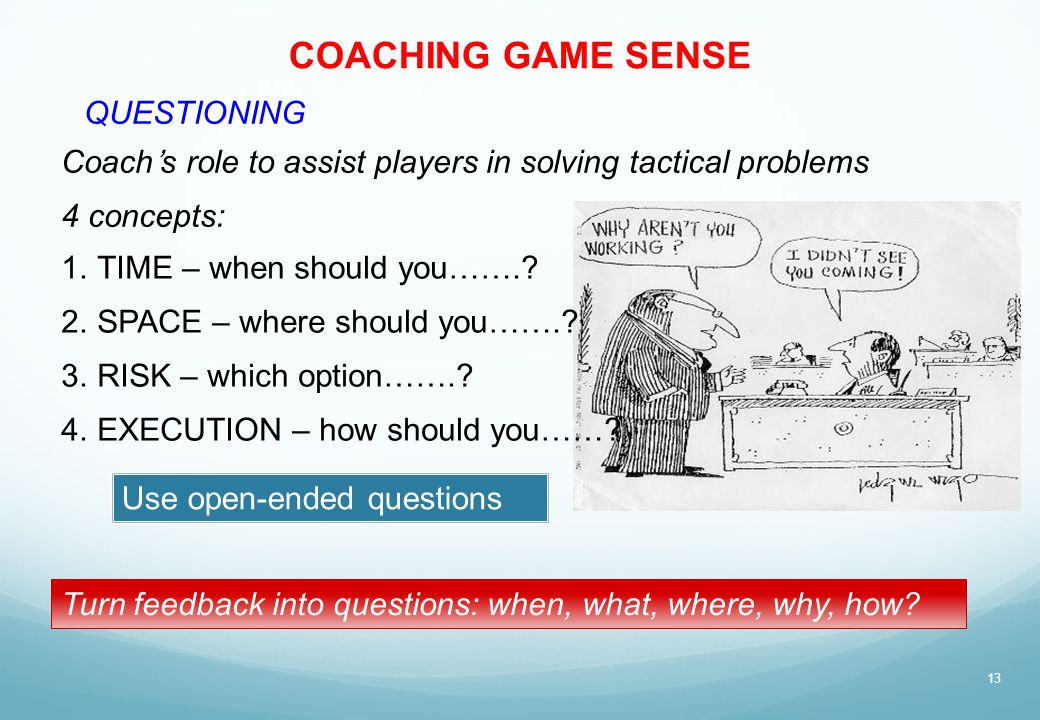 COACHING GAME SENSE QUESTIONING