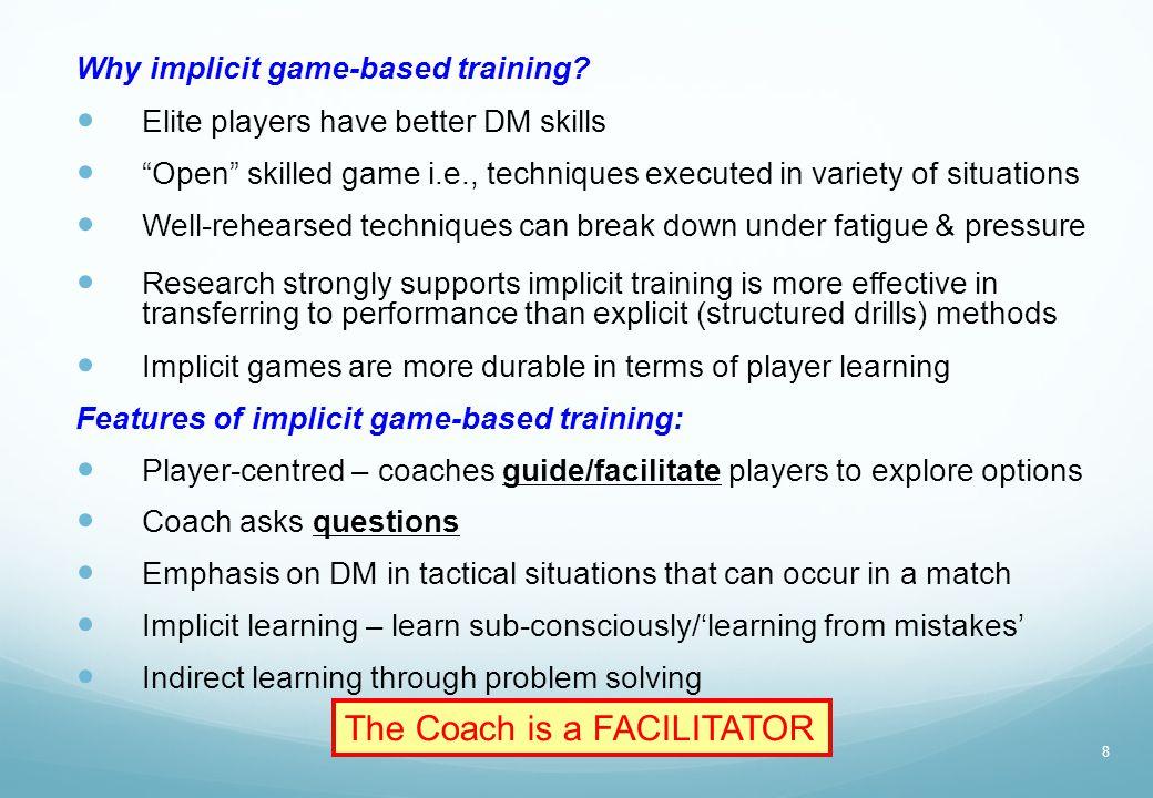 The Coach is a FACILITATOR