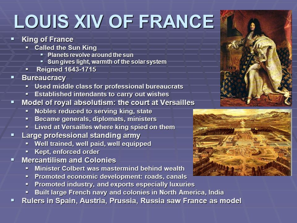 LOUIS XIV OF FRANCE King of France Bureaucracy