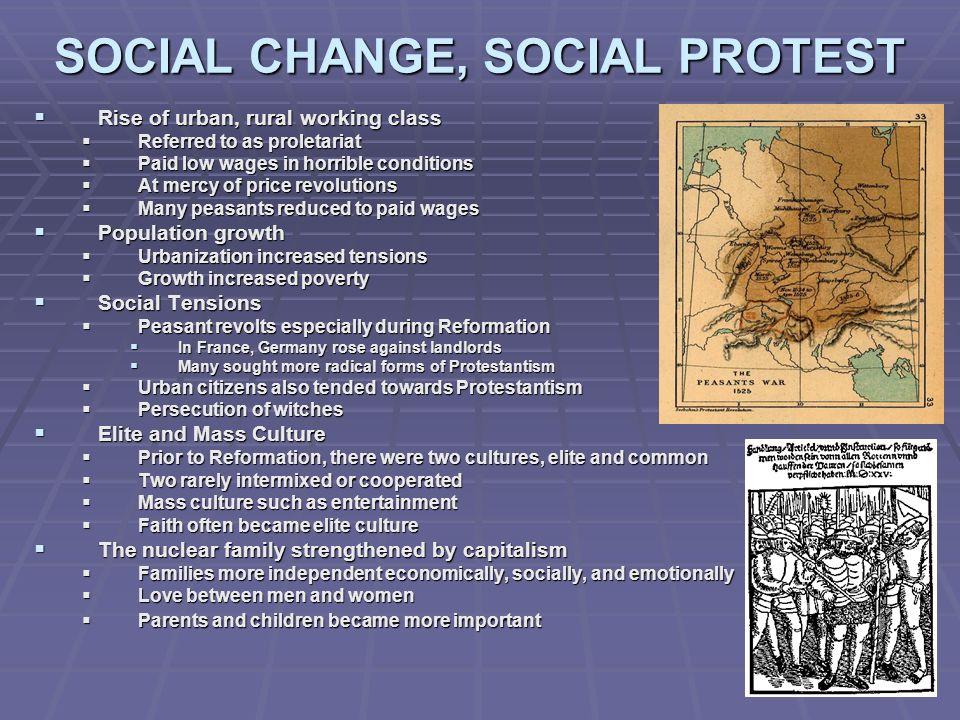 SOCIAL CHANGE, SOCIAL PROTEST