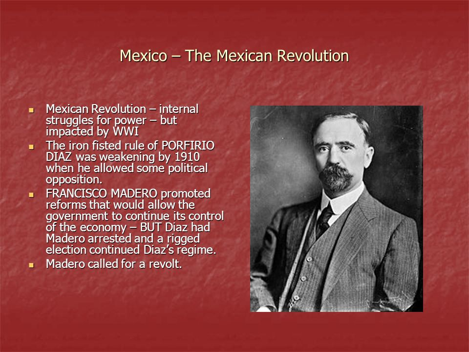 Mexico – The Mexican Revolution