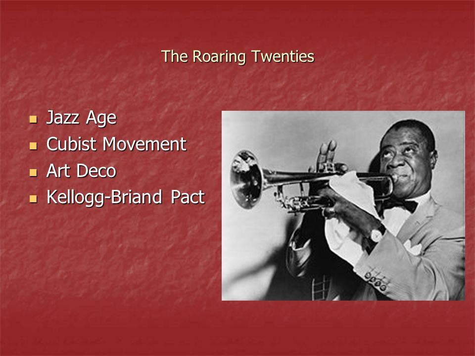 Jazz Age Cubist Movement Art Deco Kellogg-Briand Pact