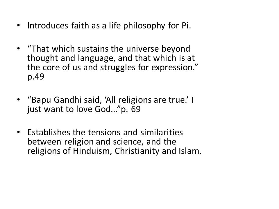 Religion and belief within life of pi essay | Research paper