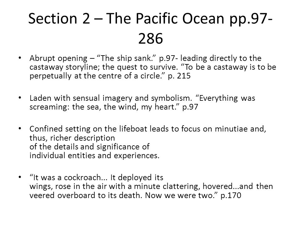 Section 2 – The Pacific Ocean pp.97-286