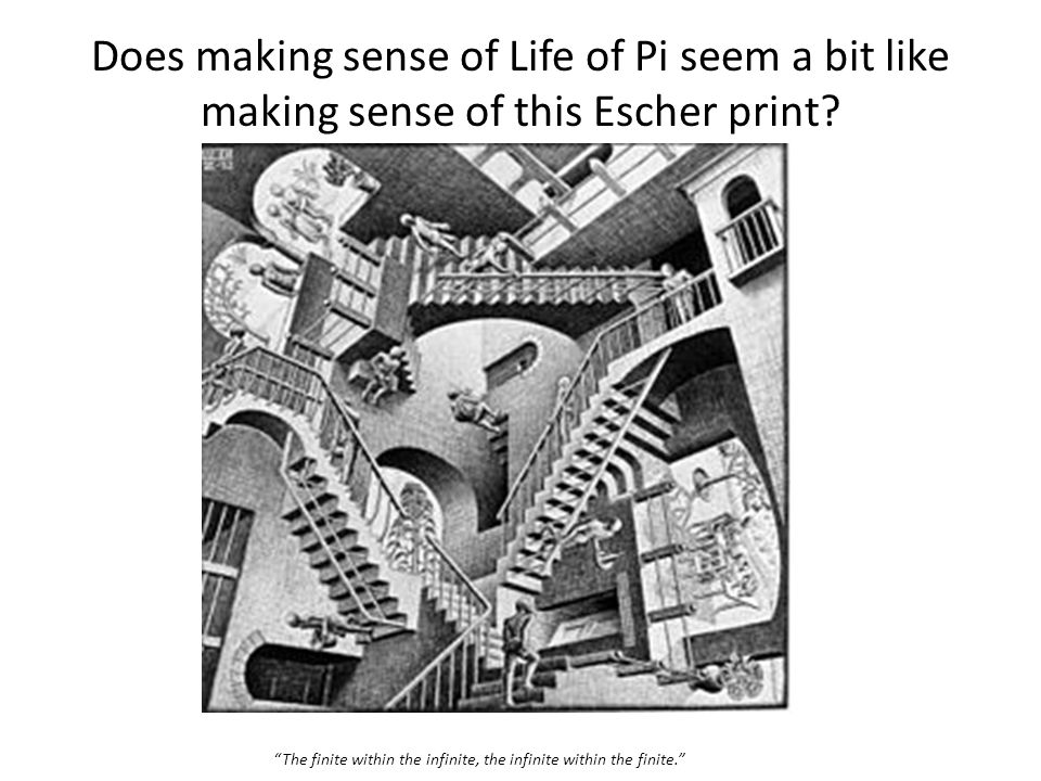 Does making sense of Life of Pi seem a bit like making sense of this Escher print