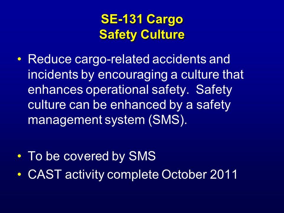 SE-131 Cargo Safety Culture