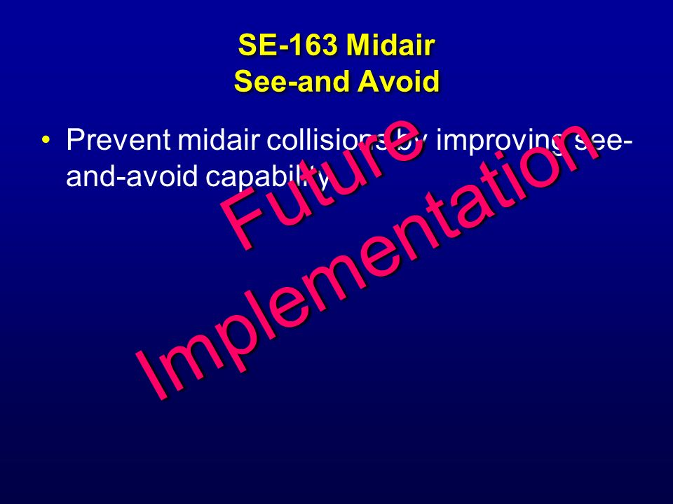SE-163 Midair See-and Avoid