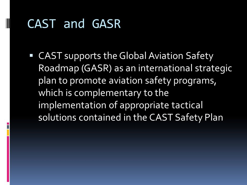 CAST and GASR