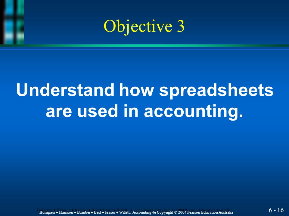 Understand how spreadsheets